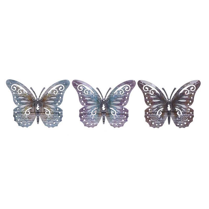 Διακοσμητική Πεταλούδα Σετ 3τμχ Μεταλλική inart 17x1x13εκ. 3-70-148-0033 (Υλικό: Μεταλλικό) – inart – 3-70-148-0033