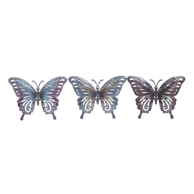 Διακοσμητική Πεταλούδα Σετ 3τμχ Μεταλλική inart 17x1x13εκ. 3-70-148-0034 (Υλικό: Μεταλλικό) – inart – 3-70-148-0034