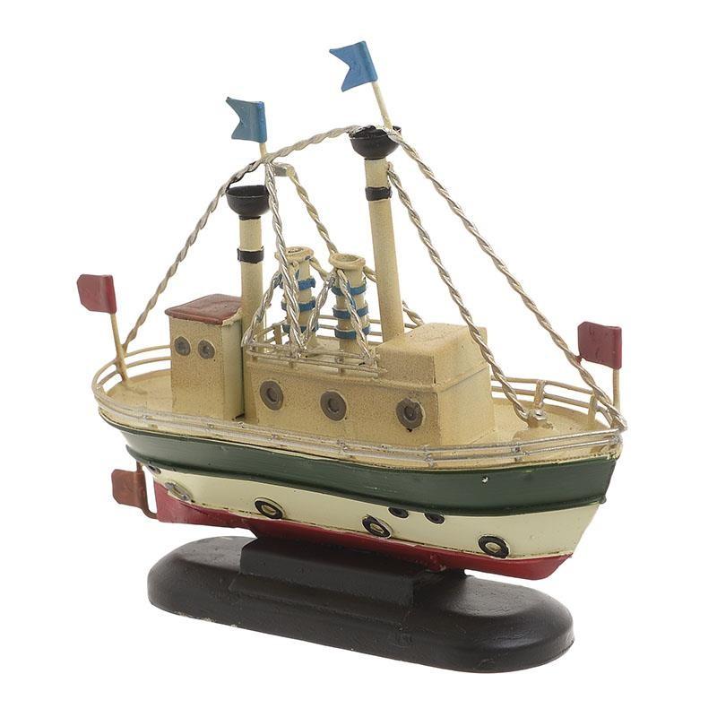 Διακοσμητικό Καράβι Μεταλλικό inart 15,5x5x13εκ. 3-70-726-0262 (Υλικό: Μεταλλικό) - inart - 3-70-726-0262