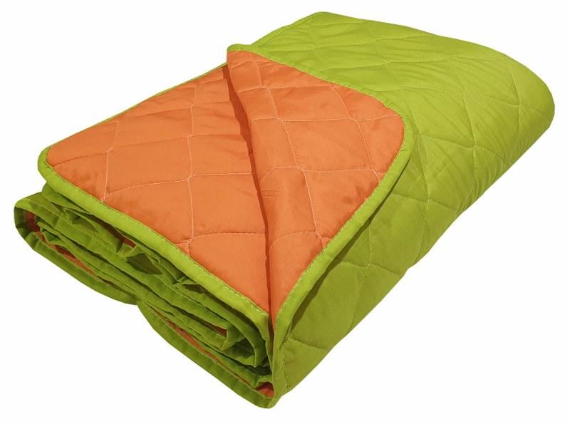 Κουβερλί 2 Όψεων Microfiber Μονό 160x240εκ. Orange-Light Green (Ύφασμα: Microfiber, Χρώμα: Πορτοκαλί) - KOMVOS HOME - 7000856-9