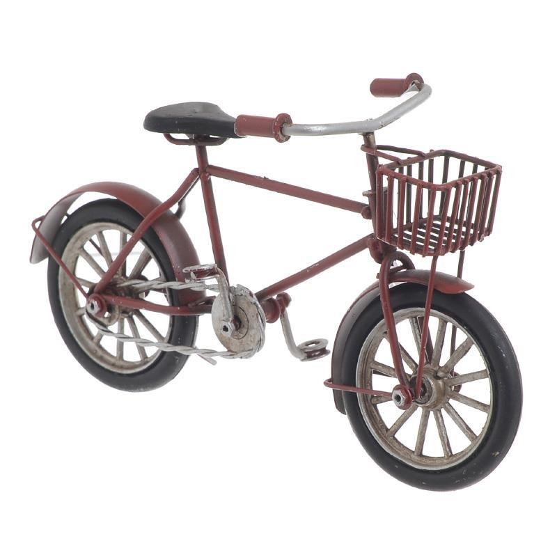 Μινιατούρα Ποδήλατο Μεταλλικό Αντικέ inart 16,5x5,5x9εκ. 3-70-726-0223 (Υλικό: Μεταλλικό, Χρώμα: Κόκκινο) - inart - 3-70-726-0223