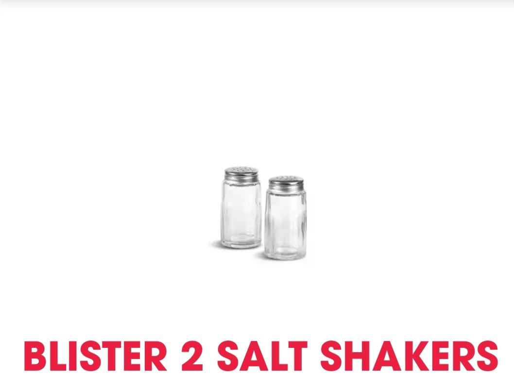Αλατοπίπερο Σετ 2τμχ Γυάλινο 7εκ. Comas (Υλικό: Γυαλί) – Comas – salt-2tmx