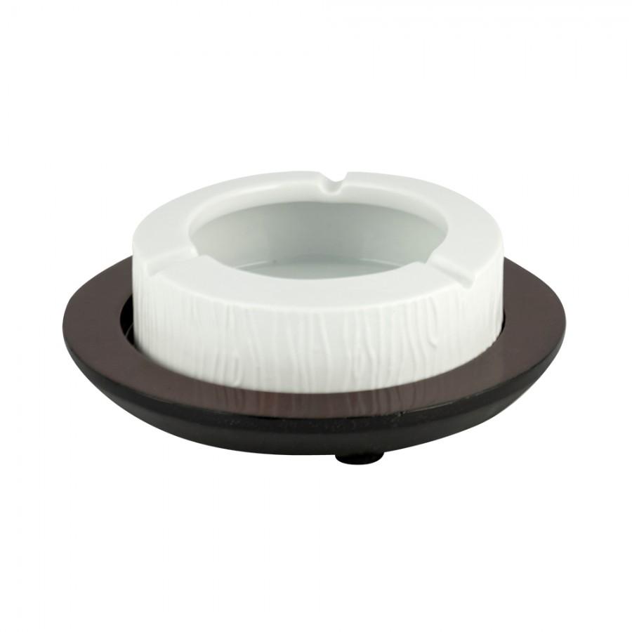Σταχτοδοχείο Πορσελάνης-Ξύλινο WM Collection 15εκ. N955710 (Υλικό: Ξύλο, Χρώμα: Λευκό) – WM COLLECTION – N955710