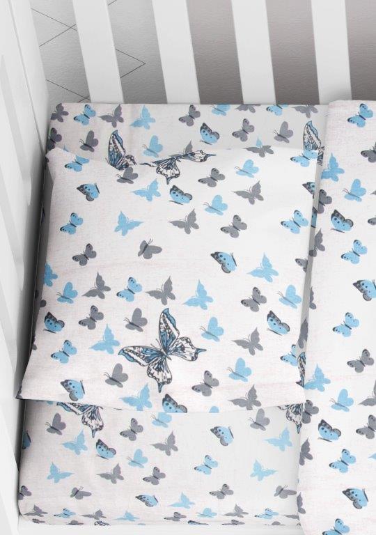 Μαξιλαροθήκη Φάκελος Βαμβακερή Bebe 35×45εκ. Butterfly 56 Sky Blue Dimcol (Ύφασμα: Βαμβάκι 100%) – DimCol – 1915817707205682