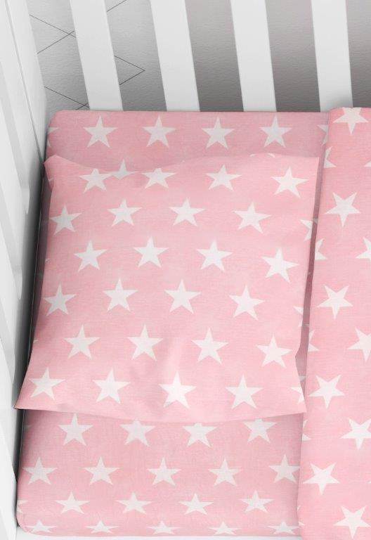 Μαξιλαροθήκη Φάκελος Βαμβακερή Bebe 35×45εκ. Star 32 Pink Dimcol (Ύφασμα: Βαμβάκι 100%, Χρώμα: Ροζ) – DimCol – 1915817707303226