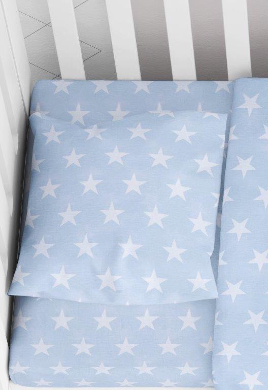 Μαξιλαροθήκη Φάκελος Βαμβακερή Bebe 35×45εκ. Star 33 Ciel Dimcol (Ύφασμα: Βαμβάκι 100%, Χρώμα: Γαλάζιο ) – DimCol – 1915817707303328