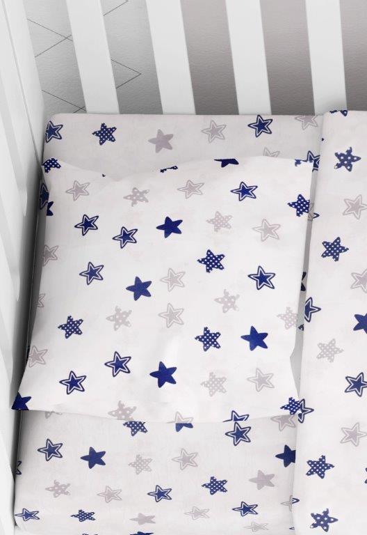 Μαξιλαροθήκη Φάκελος Βαμβακερή Bebe 35×45εκ. Star 102 Blue Dimcol (Ύφασμα: Βαμβάκι 100%) – DimCol – 1915817707310270