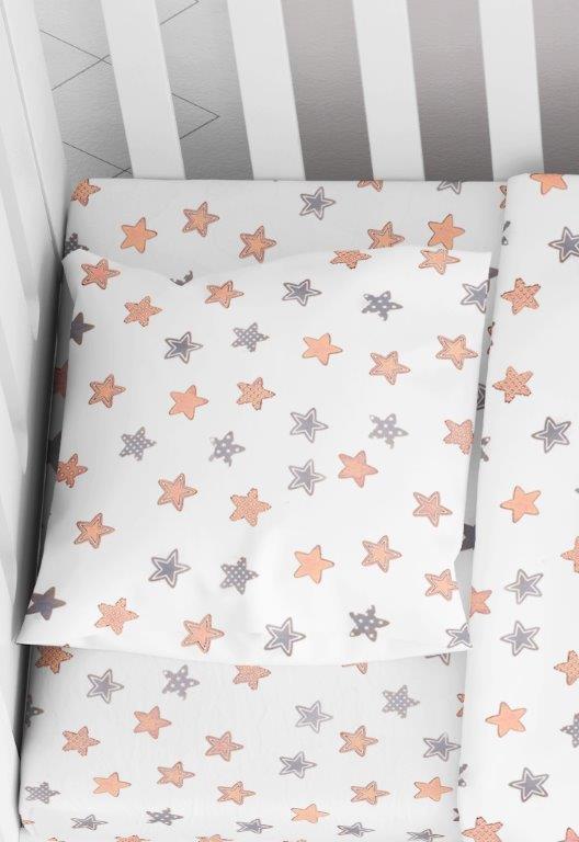 Μαξιλαροθήκη Φάκελος Βαμβακερή Bebe 35×45εκ. Star 103 Grey Dimcol (Ύφασμα: Βαμβάκι 100%) – DimCol – 1915817707310372