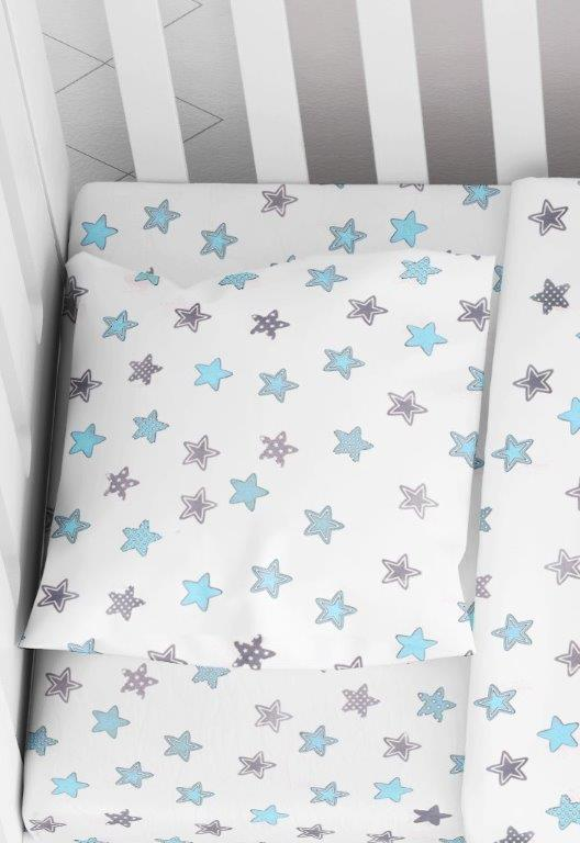 Μαξιλαροθήκη Φάκελος Βαμβακερή Bebe 35×45εκ. Star 104 Sky Blue Dimcol (Ύφασμα: Βαμβάκι 100%) – DimCol – 1915817707310482
