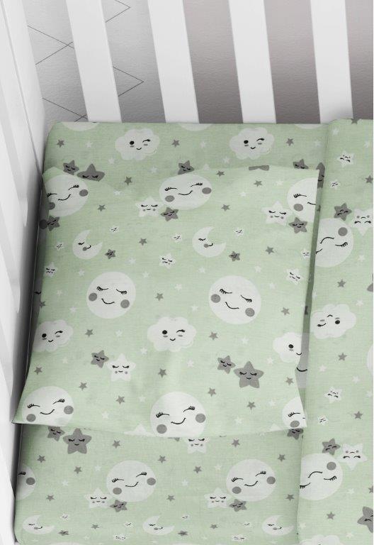 Μαξιλαροθήκη Φάκελος Βαμβακερή Bebe 35×45εκ. Smile 80 Green Dimcol (Ύφασμα: Βαμβάκι 100%, Χρώμα: Πράσινο ) – DimCol – 1915817708008081
