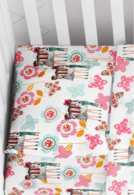 Μαξιλαροθήκη Φάκελος Βαμβακερή Bebe 35×45εκ. Girls 58 Pink Dimcol (Ύφασμα: Βαμβάκι 100%, Χρώμα: Ροζ) – DimCol – 1915817708105879