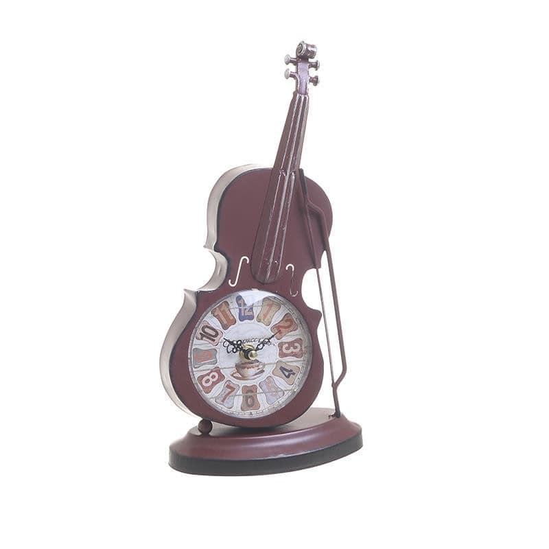 Ρολόι Επιτραπέζιο Μεταλλικό inart 18x9x31εκ. 3-20-977-0286 (Υλικό: Μεταλλικό, Χρώμα: Μπορντώ ) – inart – 3-20-977-0286