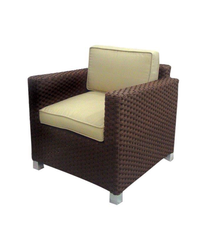 Πολυθρόνα Εξωτερικού Χώρου Wicker-Αλουμινίου Με Μαξιλάρι 73x75x71εκ. HAW6410 (Υλικό: Wicker) - OEM - 4-HAW6410