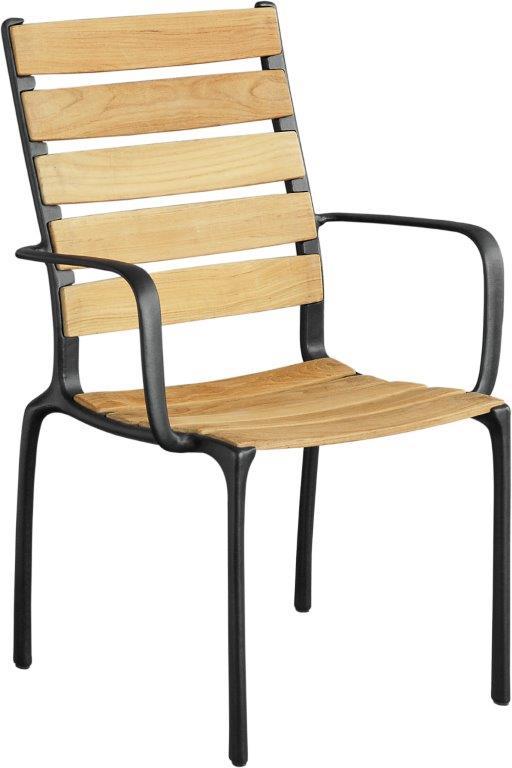 Καρέκλα Εξωτερικού Χώρου Μεταλλική-Ξύλινη 62x63x97εκ. JX 2041/B (Υλικό: Ξύλο) - OEM - 4-JX 2041/B