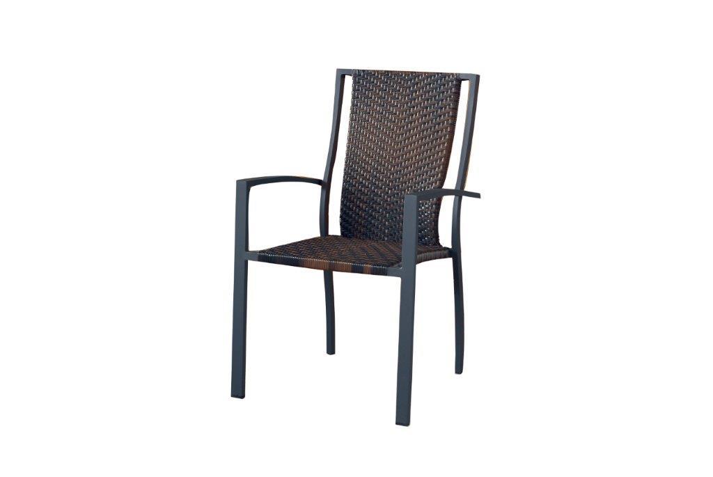 Πολυθρόνα Εξωτερικού Χώρου Wicker-Μεταλλική 66x58x92εκ. HAW018/098 (Υλικό: Μεταλλικό) – OEM – 4-HAW018/098