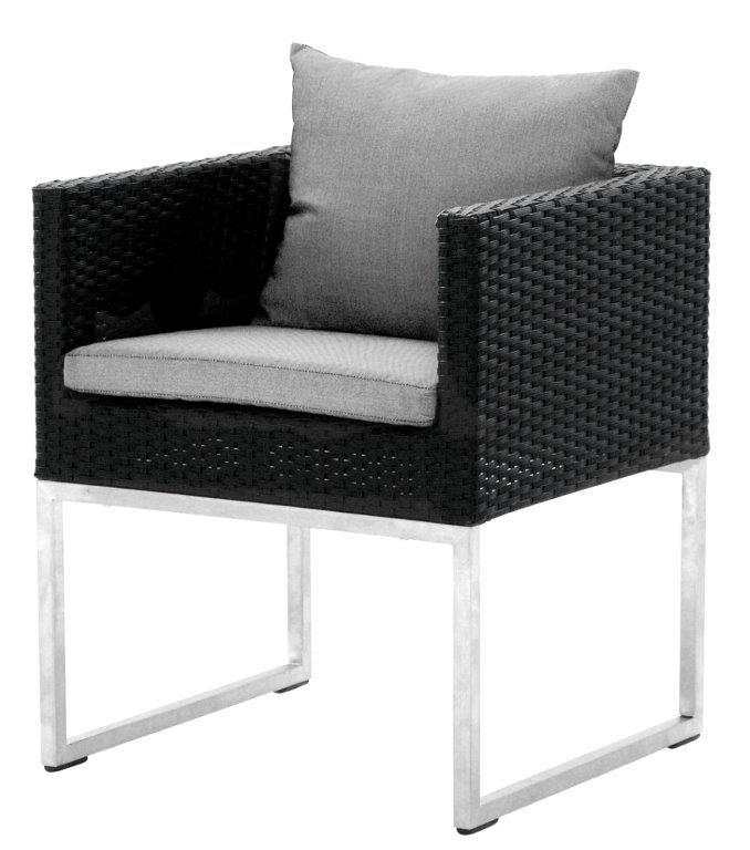 Πολυθρόνα Αλουμινίου-Wicker 58x57x68εκ. Με Μαξιλάρι HAW165/C (Υλικό: Wicker) – OEM – 4-HAW165/C