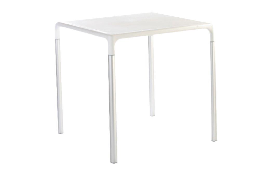 Τραπέζι Εξωτερικού Χώρου Μεταλλικό-Πλαστικό 70x70x72εκ. ISI758/W (Υλικό: Μεταλλικό, Χρώμα: Λευκό) – OEM – 4-ISI758/W