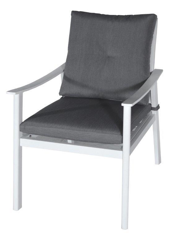 Πολυθρόνα Εξωτερικού Χώρου Αλουμινίου-Polyester 73x60x91εκ. Με Μαξιλάρι LIG53363 (Υλικό: Polyester) - OEM - 4-LIG53363