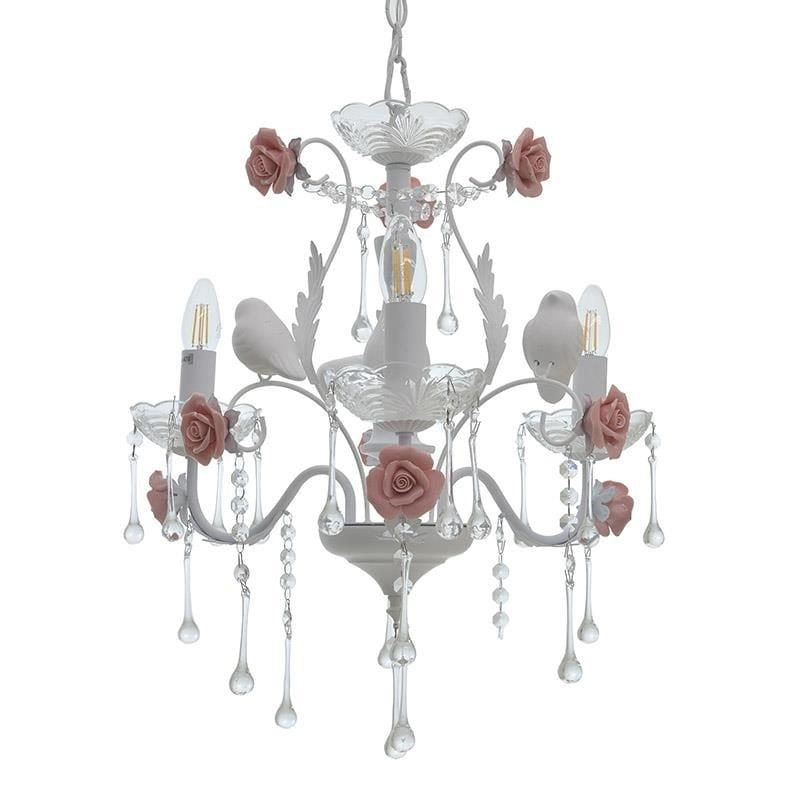 Φωτιστικό Οροφής 3Φωτο Μεταλλικό inart 48x48x45/100εκ. 3-10-048-0001 (Υλικό: Μεταλλικό, Χρώμα: Λευκό) - inart - 3-10-048-0001