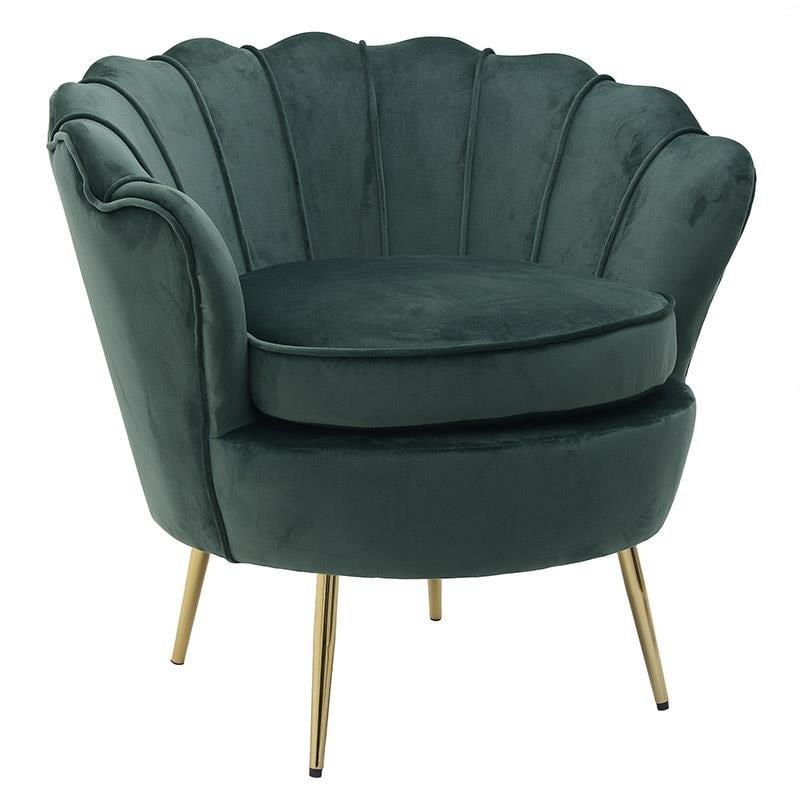 Πολυθρόνα Βελούδινη-Μεταλλική inart 83x76x78/52εκ. 3-50-037-0010 (Υλικό: Μεταλλικό, Ύφασμα: Βελούδο, Χρώμα: Πράσινο ) – inart – 3-50-037-0010
