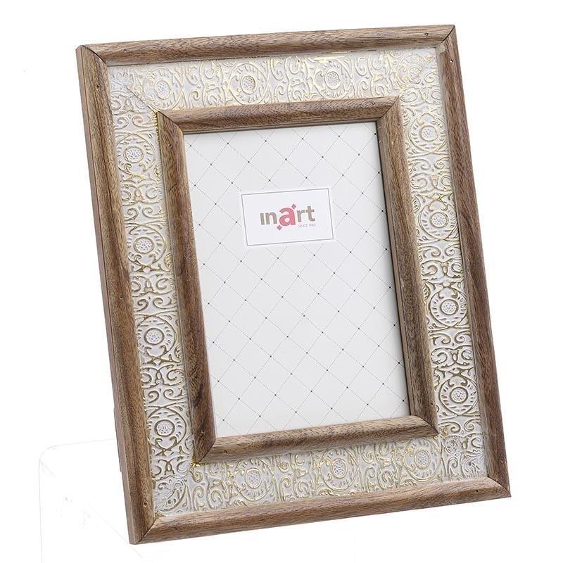 Κορνίζα Ξύλινη inart 13x18εκ. 3-30-831-0030 (Υλικό: Ξύλο, Χρώμα: Μπεζ) - inart - 3-30-831-0030