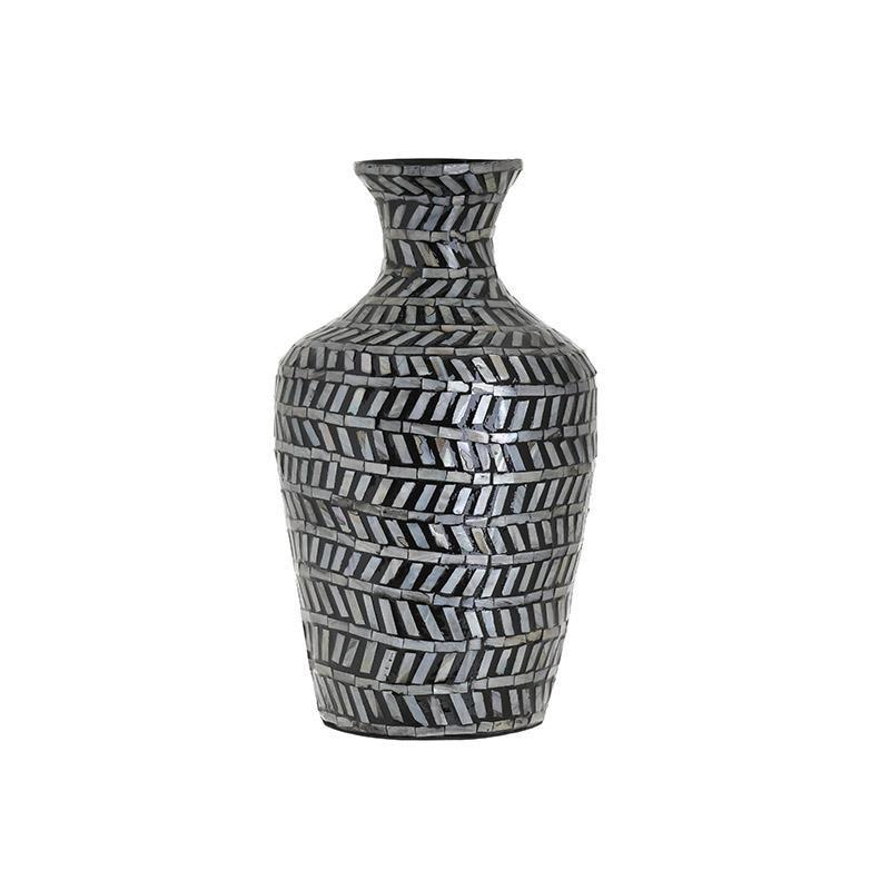 Βάζο Ξύλινο inart 23x38εκ. 3-70-564-0065 (Υλικό: Ξύλο, Χρώμα: Λευκό) - inart - 3-70-564-0065