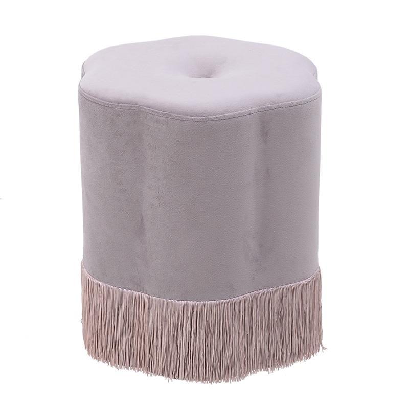 Σκαμπώ Βελούδινο inart 36×42εκ. 3-50-739-0016 (Ύφασμα: Βελούδο, Χρώμα: Ροζ) – inart – 3-50-739-0016