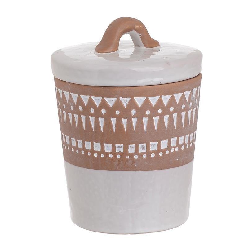 Διακοσμητικό Δοχείο Με Καπάκι Κεραμικό inart 13×17εκ. 3-70-354-0032 (Υλικό: Κεραμικό, Χρώμα: Λευκό) – inart – 3-70-354-0032