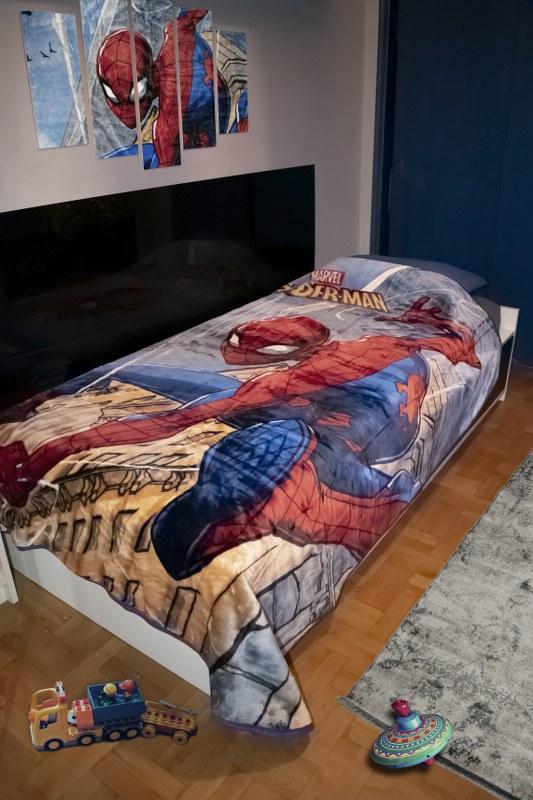 Κουβέρτα Βελουτέ Μονή 160×220εκ. Spiderman 511 Digital Print Disney Dimcol (Ύφασμα: Polyester) – Disney – 2520225605251199