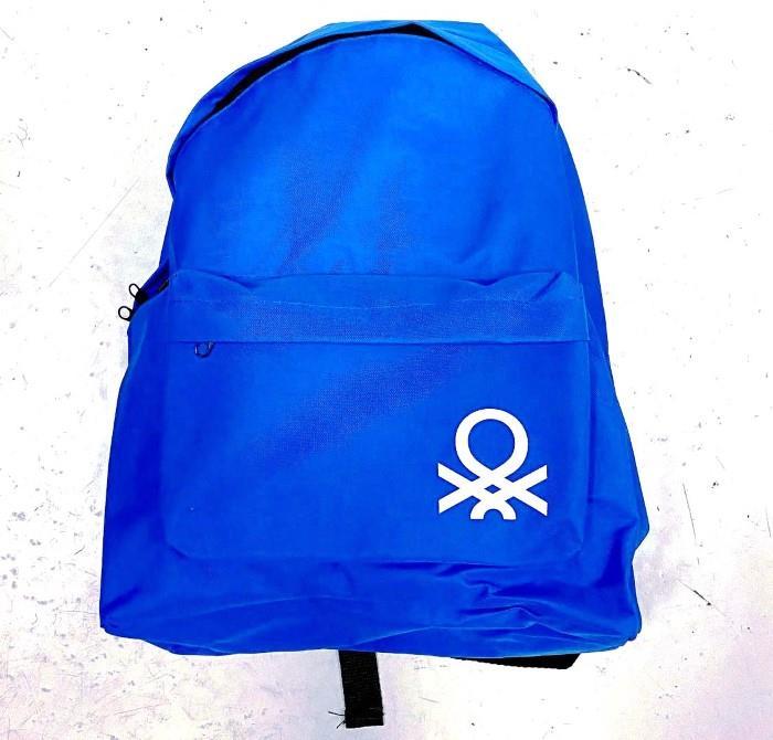 Τσάντα Πλάτης Υφασμάτινη 30x17x41εκ. BENETTON (Χρώμα: Μπλε) ...
