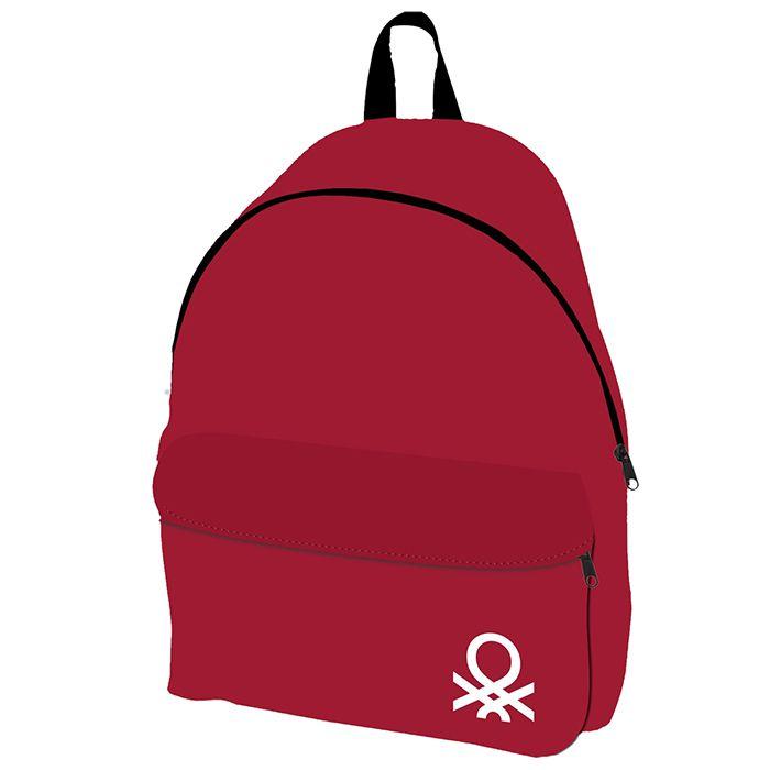 Τσάντα Πλάτης Υφασμάτινη 30x17x41εκ. BENETTON (Χρώμα: Κόκκιν...