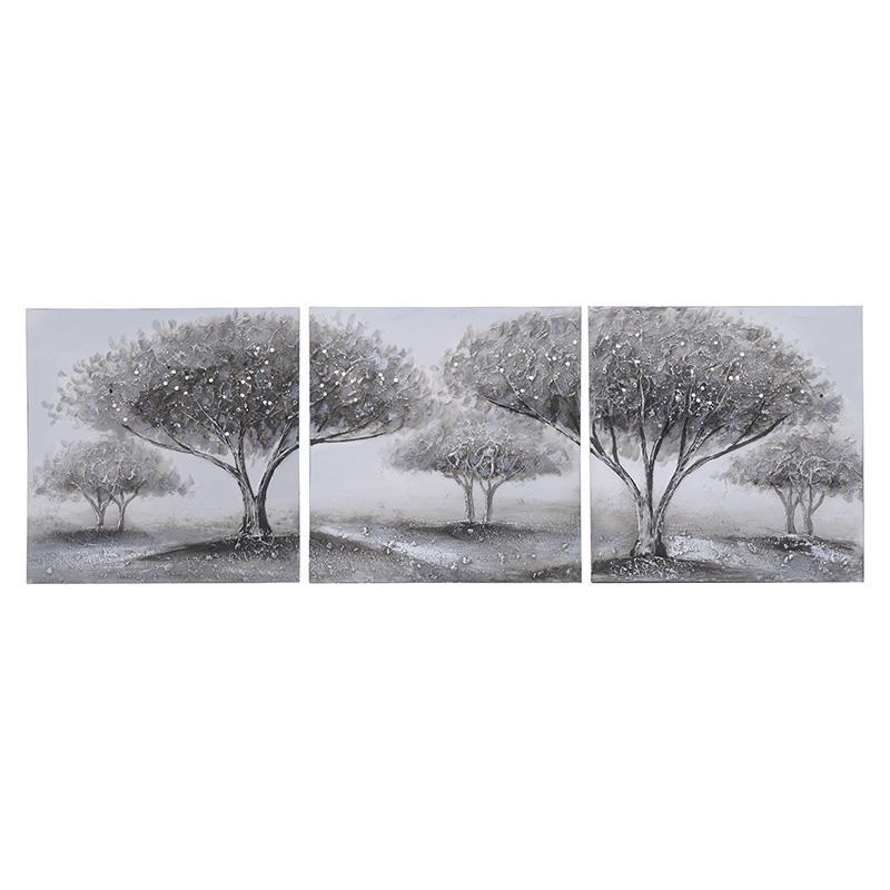 Σετ Πίνακας-Καμβάς 3τμχ Ξύλινος inart 40×40εκ. 3-90-519-0196 (Υλικό: Ξύλο) – inart – 3-90-519-0196