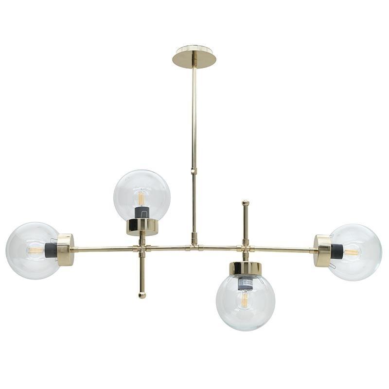 Φωτιστικό Οροφής 4Φωτο Μεταλλικό inart 98x15x80εκ. 3-10-584-0003 (Υλικό: Μεταλλικό, Χρώμα: Χρυσό ) – inart – 3-10-584-0003