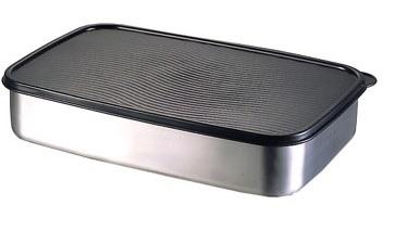 Κουτί Ψυγείο-Φαγητοδοχείο Ανοξείδωτο 18/10 Veltihome 28x18x5εκ. 3672 (Υλικό: Ανοξείδωτο) – VELTIHOME – 3672