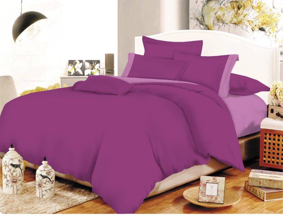 Σετ Σεντόνια Polycotton Μονά 160×240εκ. Με Φάσα Mauve-Lilac Με Λάστιχο (Ύφασμα: 50%Cotton-50%Polyester, Χρώμα: Λιλά) – KOMVOS HOME – 7000009-27F