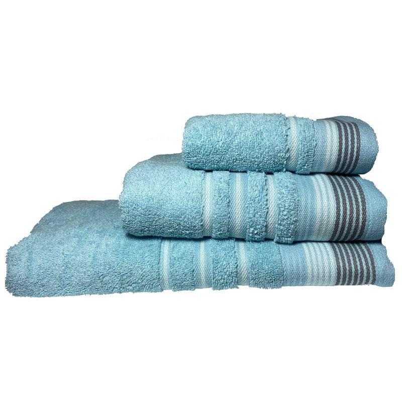 Σετ πετσέτες 3τμχ Βαμβακερές Bella Ocean 24home (Ύφασμα: Βαμβάκι 100%, Χρώμα: Μπλε) – 24home.gr – 24-bella-ocean