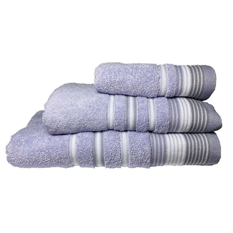 Σετ πετσέτες 3τμχ Βαμβακερές Bella Purple 24home (Ύφασμα: Βαμβάκι 100%, Χρώμα: Μωβ) – 24home.gr – 24-bella-purple