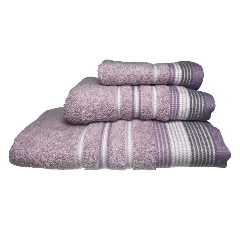 Σετ πετσέτες 3τμχ Βαμβακερές Bella Orchid 24home (Ύφασμα: Βαμβάκι 100%, Χρώμα: Ροζ) – 24home.gr – 24-bella-orchid