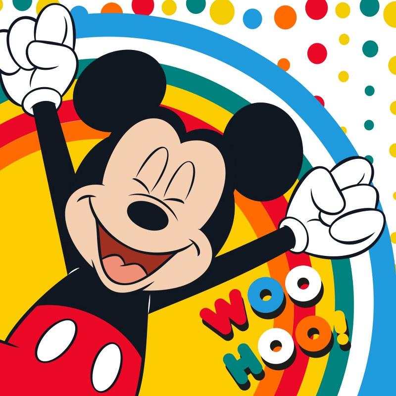 Λαβέτα-Μαγική Πετσέτα 30×30εκ. Digital Print Mickey 41 Disney Dimcol (Ύφασμα: Βαμβάκι 100%) – Disney – 2120512401004199