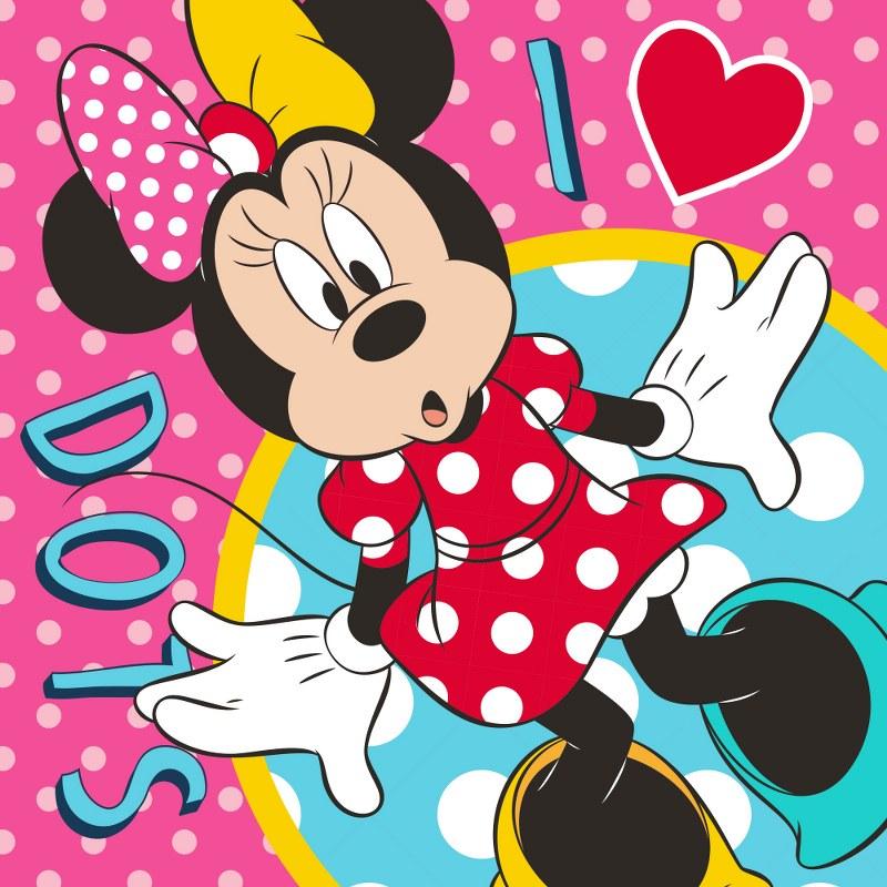 Λαβέτα-Μαγική Πετσέτα 30×30εκ. Digital Print Minnie 65 Disney Dimcol (Ύφασμα: Βαμβάκι 100%) – Disney – 2120512401106599