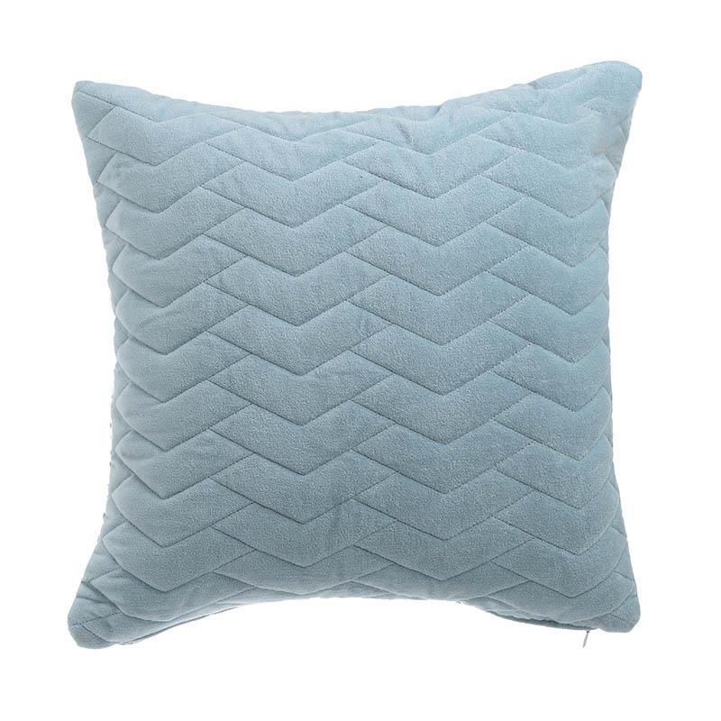 Διακοσμητικό Μαξιλάρι Υφασμάτινο inart 45x45εκ. 3-40-820-0029 (Χρώμα: Γαλάζιο ) - inart - 3-40-820-0029