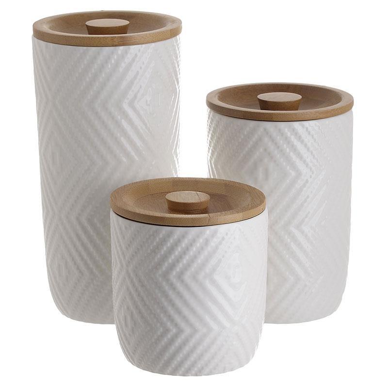 Σετ Δοχείο 3τμχ Πορσελάνης-Bamboo CLICK 6-60-476-0014 (Υλικό: Πορσελάνη, Χρώμα: Λευκό) – CLICK – 6-60-476-0014