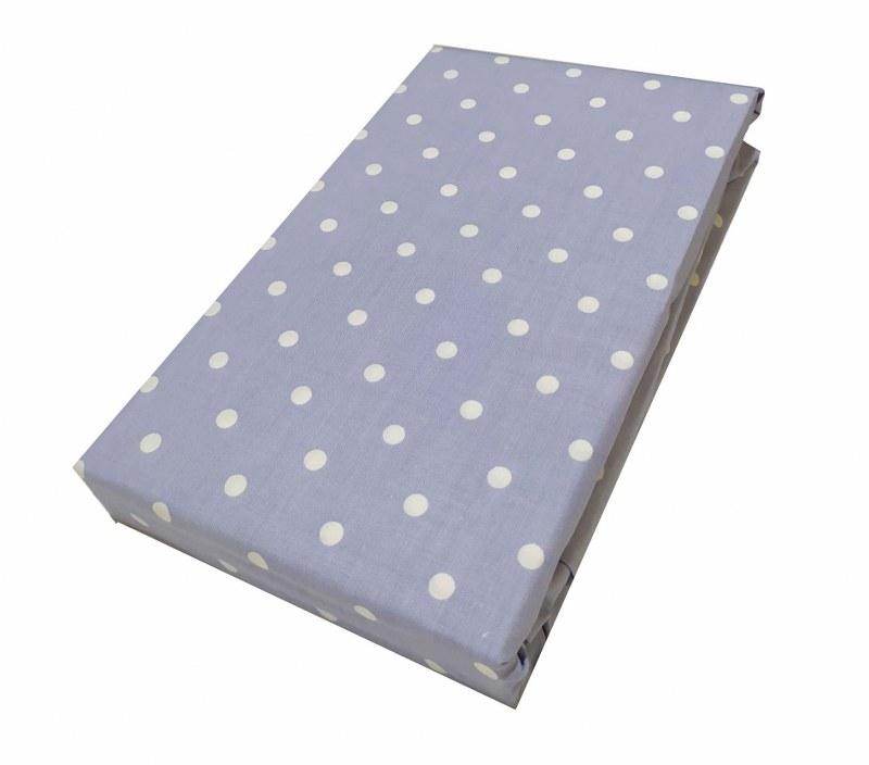 Σεντόνι Μεμονωμένο Polycotton Διπλό Με Λάστιχο 150×200+20εκ. Πουά Lavender (Ύφασμα: 50%Cotton-50%Polyester) – KOMVOS HOME – 7002188-33F