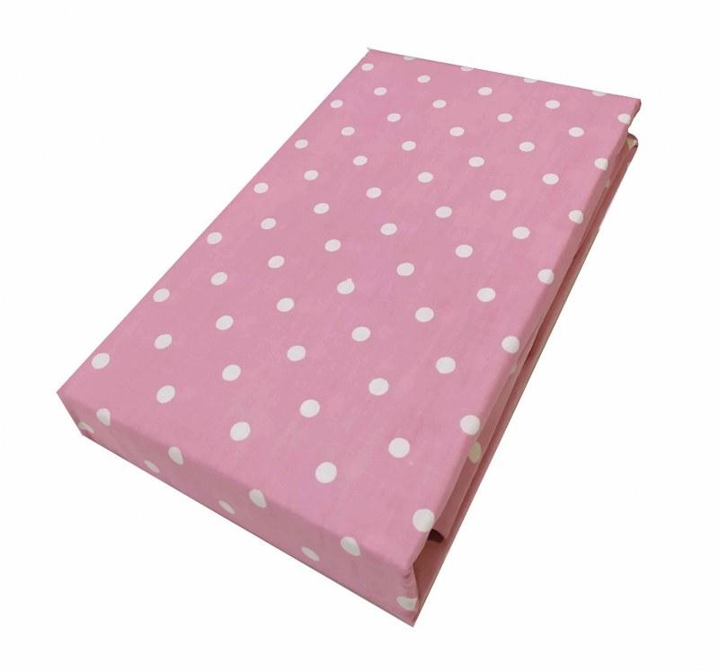 Ζεύγος Μαξιλαροθήκες Polycotton 50×70εκ. Πουά Light Pink (Ύφασμα: 50%Cotton-50%Polyester, Χρώμα: Ροζ) – KOMVOS HOME – 7000139-34