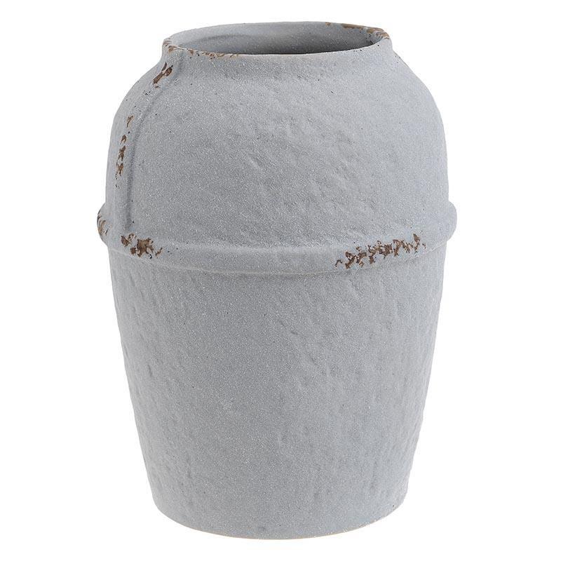 Βάζο Κεραμικό Αντικέ inart 18×24εκ. 3-70-632-0012 (Υλικό: Κεραμικό, Χρώμα: Αντικέ) – inart – 3-70-632-0012
