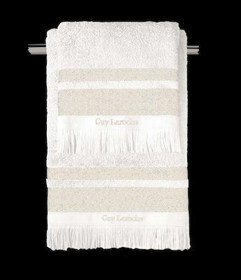 Σετ Πετσέτες 3τμχ Βαμβακερές Boston Ivory Guy Laroche (Ύφασμα: Βαμβάκι 100%, Χρώμα: Ιβουάρ) - Guy Laroche - boston-ivory