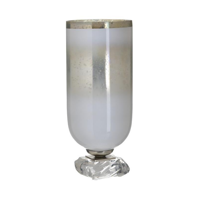 Βάζο Γυάλινο Αντικέ inart 15×36εκ. 3-70-162-0176 (Υλικό: Γυαλί, Χρώμα: Γκρι) – inart – 3-70-162-0176
