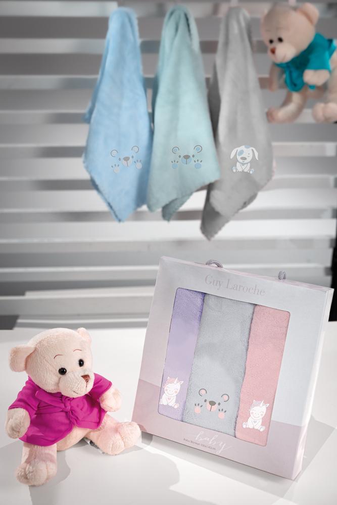Σετ Πετσέτες 3τμχ Bebe 40×60εκ. Microfiber Baby Girl Guy Laroche (Ύφασμα: Microfiber) – Guy Laroche – baby-girl
