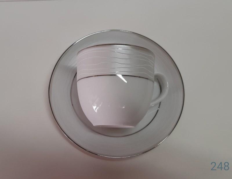 Σετ Φλυτζάνια Τσαγιού 6τμχ 210ml Πορσελάνης 248 (Υλικό: Πορσελάνη) – AB – 6-248-tea