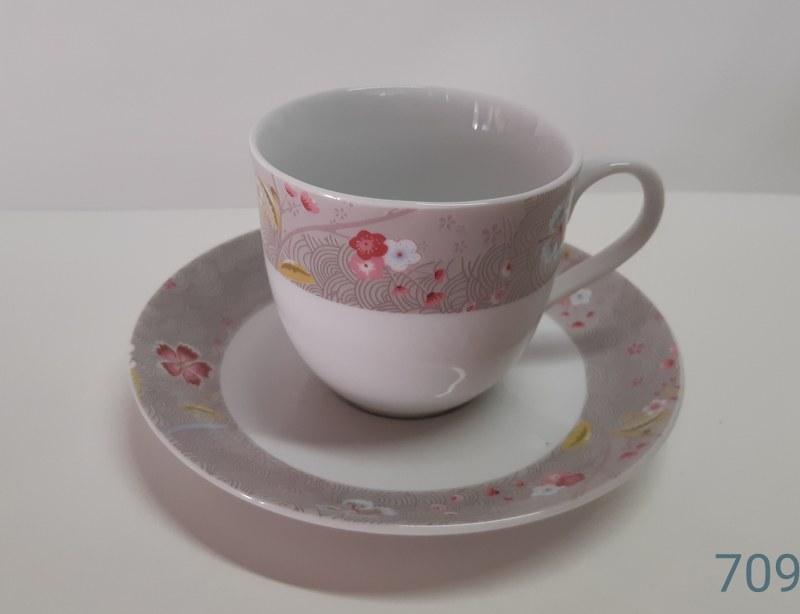 Σετ Φλυτζάνια Τσαγιού 6τμχ 210ml Πορσελάνης 709 (Υλικό: Πορσελάνη) – AB – 6-709-tea